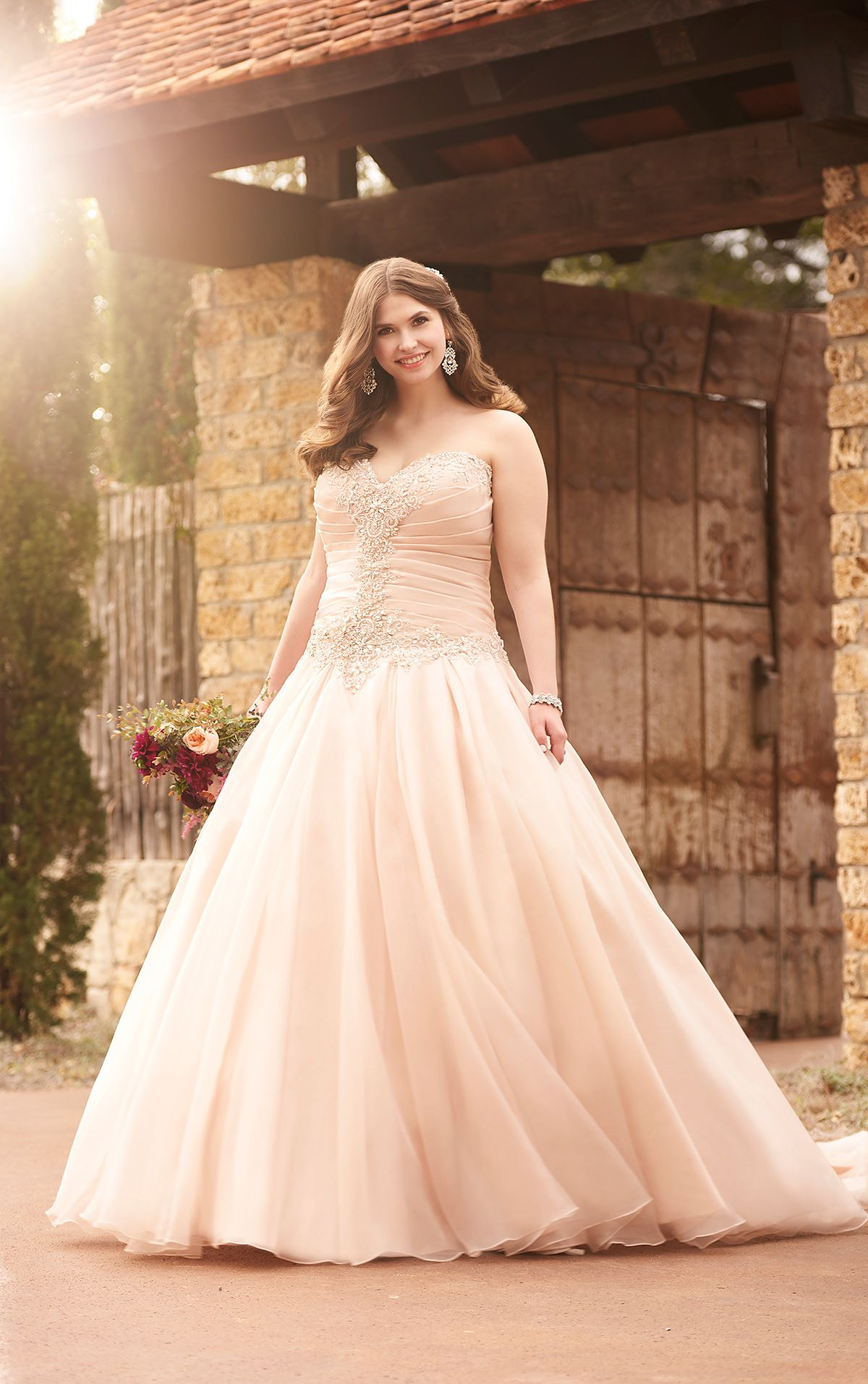 This Essense Of Australia Regency Organza Princess Plus Size Wedding Gown Is Perfect For Your Storybook Romance