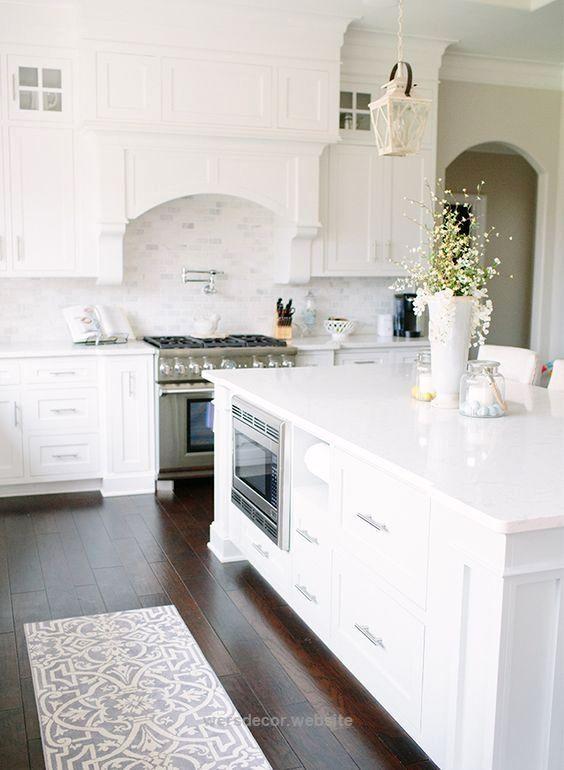 White Kitchen Design 35  Built In Microwave… White Kitchen Design Classy Kitchen Design Website Decorating Design