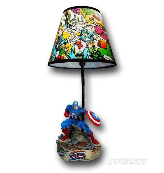 Amazing Captain America Lamp