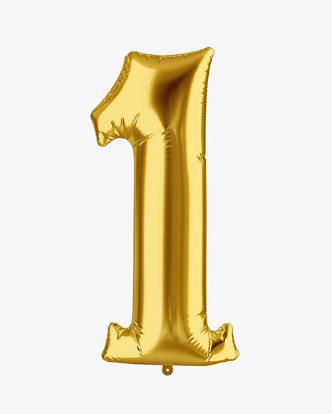 Download PSD Free Mockups Number 1 Foil Balloon Mockup
