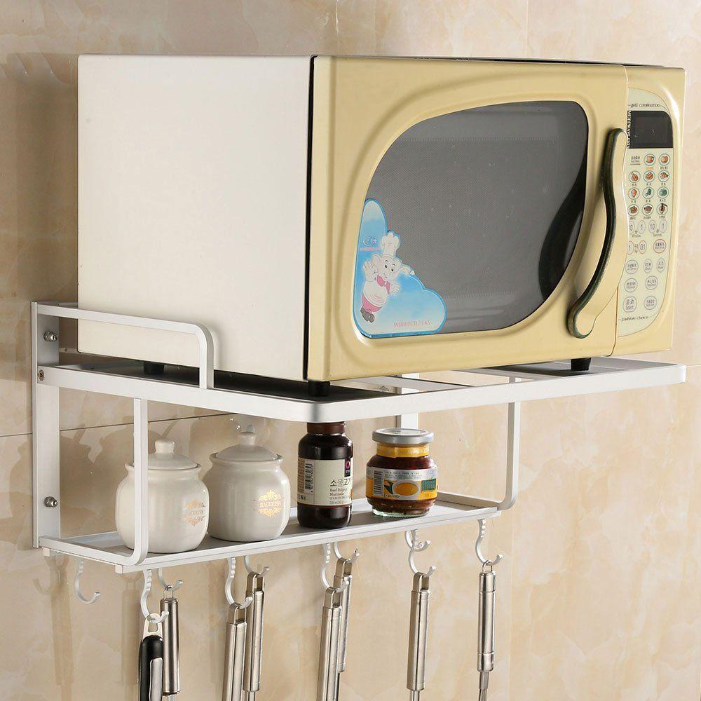 Robot Check Wall Mounted Shelves Wall Oven Microwave