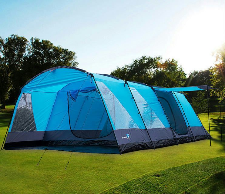 Peaktop 3+3 Rooms 6-9 Persons Large Family Group C&ing Tent With Grountsheet & Peaktop 3+3 Rooms 6-9 Persons Large Family Group Camping Tent With ...