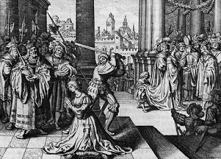Anne's execution ~ she was actually standing at her death.