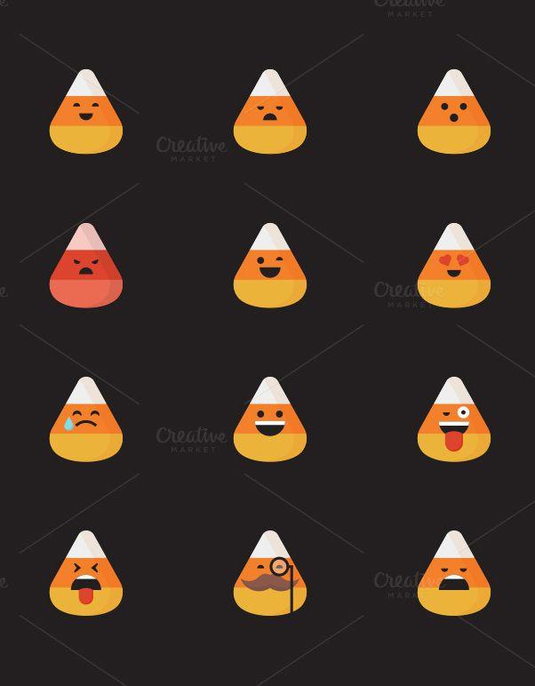Candy Corn Halloween Emoji Icons Candy Corn Halloween Emoji Web Themes