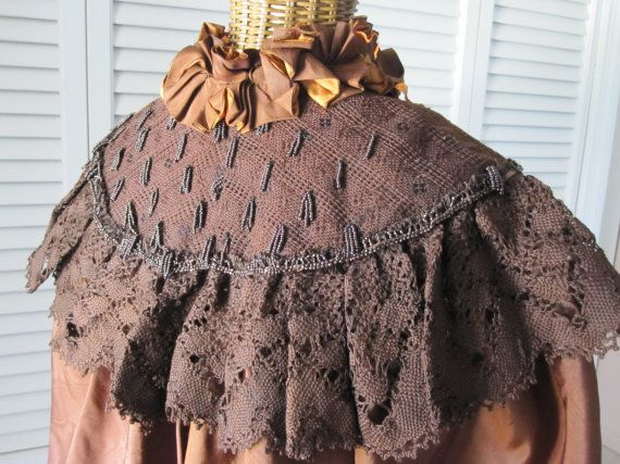 Antique HANDMADE SILK CAPELET Late 19th century by MyVanities