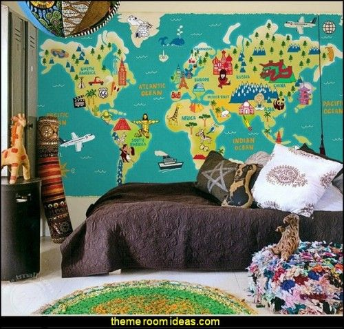 World map wallpaper travel bedroom theme for adventurer world map wallpaper travel bedroom theme for adventurer gumiabroncs Choice Image