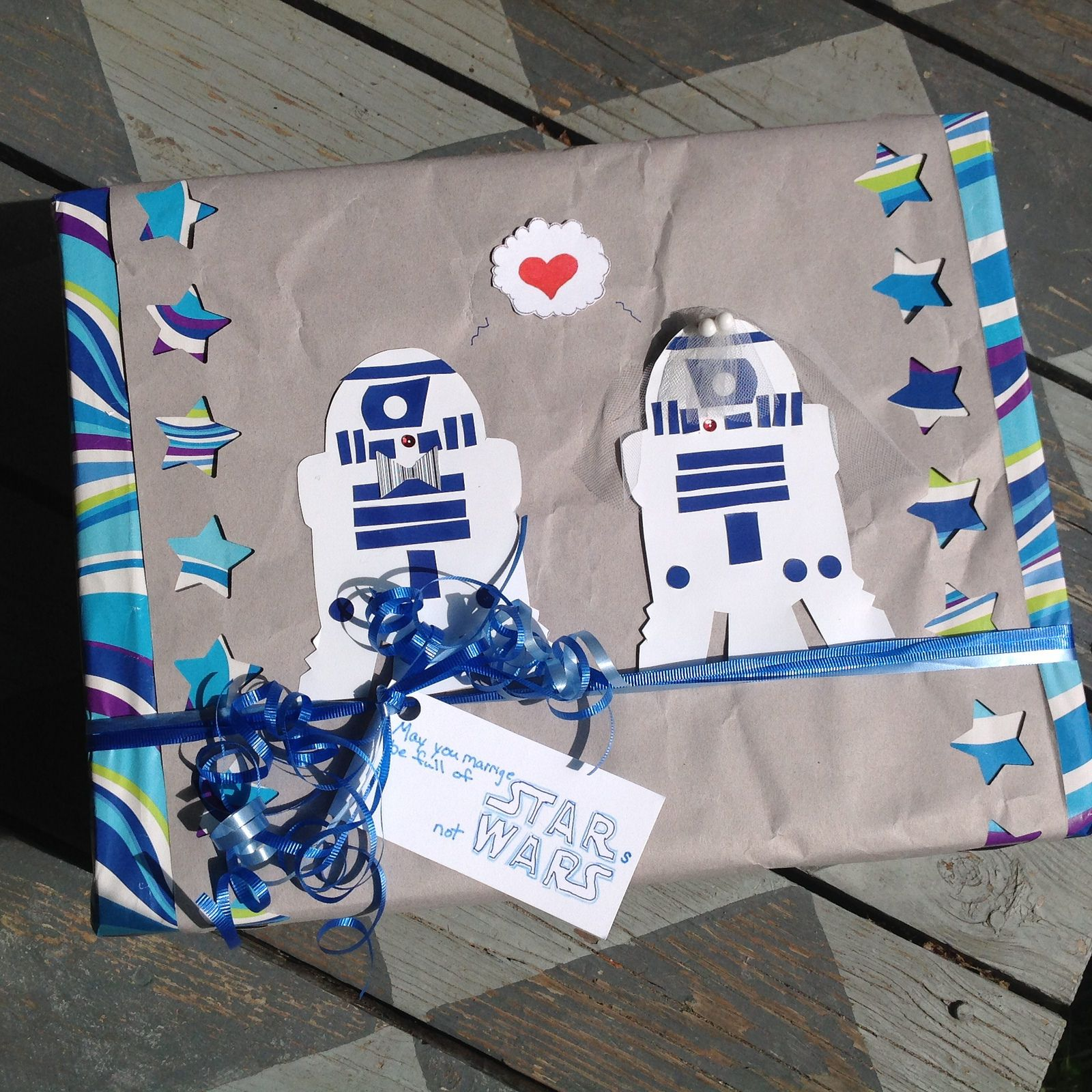 Star Wars Wedding Gifts: Star Wars Wedding Gift Wrap