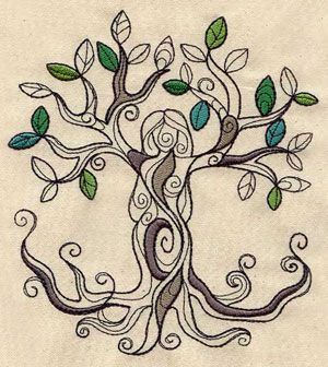 Tree Goddess | Urban Threads: Unique and Awesome Embroidery Designs a stitch in time saves nine | tattoos picture urban tattoo designs