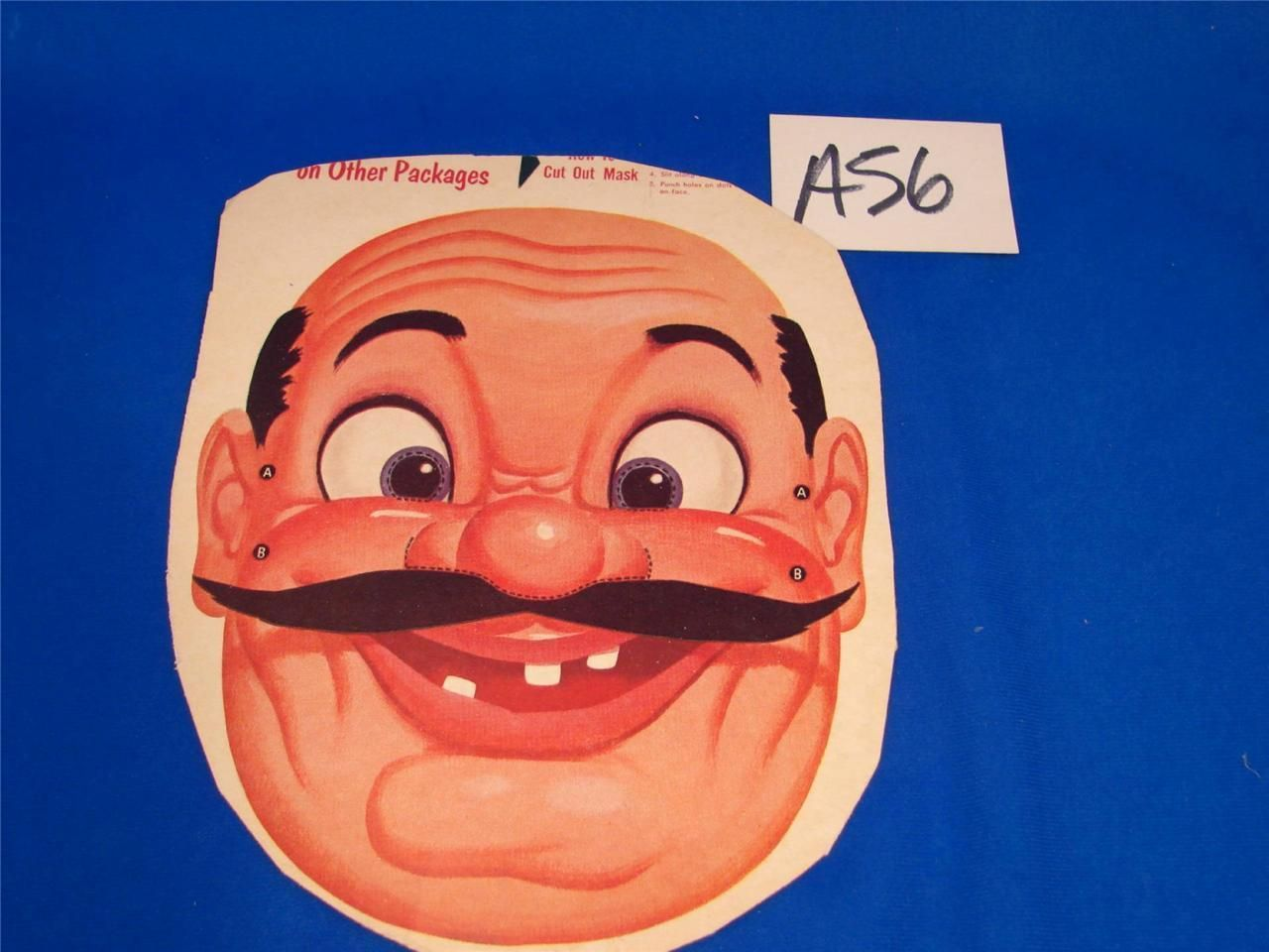 a56 vintage wheaties cereal box premium halloween mask pizza guy mario chef - Premium Halloween Masks