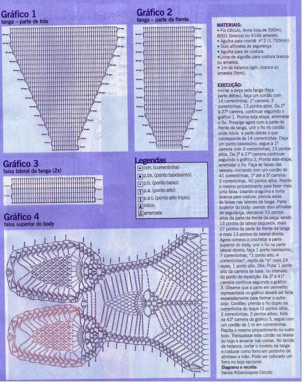 Patrones Trajes de Baño Para Damas | Patrones Crochet, Manualidades y Reciclado