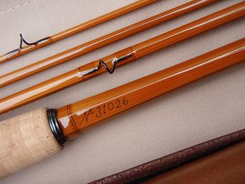 E Barder Rod Co 8 6 6 Weight 3 Piece 2 Top Model 31026 Fly Rod Leather Case Bamboo Fly Rod Fly Rods Fly Fishing Rods