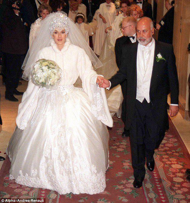 Old Ugly Wedding Dresses: Celine Dion Wedding Dress