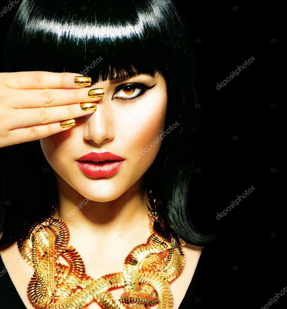 Photo of Beauty Brunette Egyptian Woman. – Stock Photo , #AD, #Egypti…