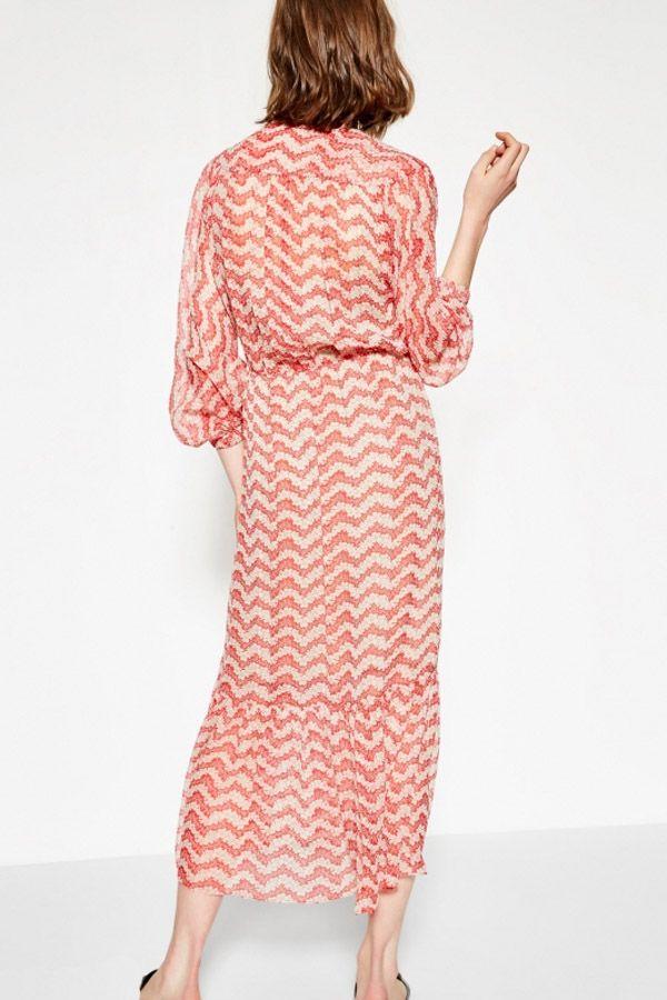 32b7abd5efd Long Red Jasmine print silk dress - THE KOOPLES WOMAN | My Style | Dresses,  Maxi dress with sleeves, Long sleeve midi dress