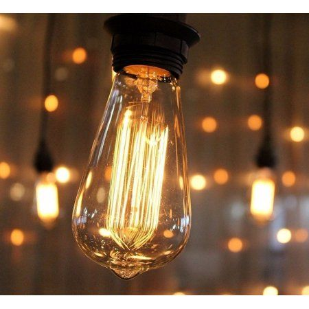 Zimtown bulb string lights with st64 edisonincandescent bulbs zimtown bulb string lights with st64 edisonincandescent bulbs 75ft 48ft 25ft black wire weatherproof outdoor commercial vintage string lights for garden mozeypictures Choice Image