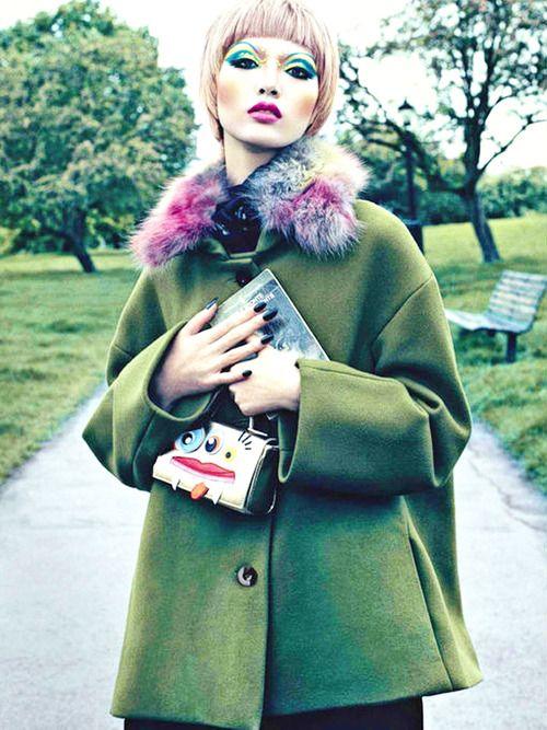 """Beauty"" Vogue Italia August 2012  Photographer: Emma Summerton  Models: JP, Ellinore Erichsen, Tian Yi, Josephine Skriver, Maria Palm"