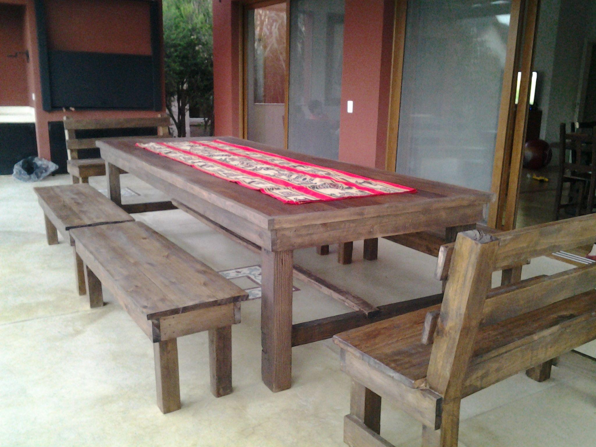 Mesa de madera dura reciclada mesas pinterest mesa - Mesa madera reciclada ...