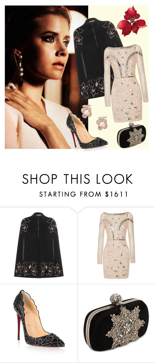 """""""Amy"""" by deborah-strozier ❤ liked on Polyvore featuring Alexander McQueen, Temperley London, Christian Louboutin and Anabela Chan"""