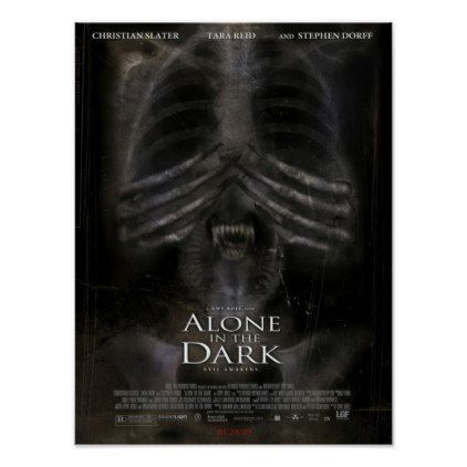 Vintage Alone In The Dark 2005 Movie Poster Alone In The Dark