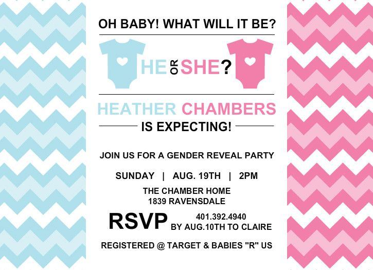 he or she baby shower invitation Stationery Typography