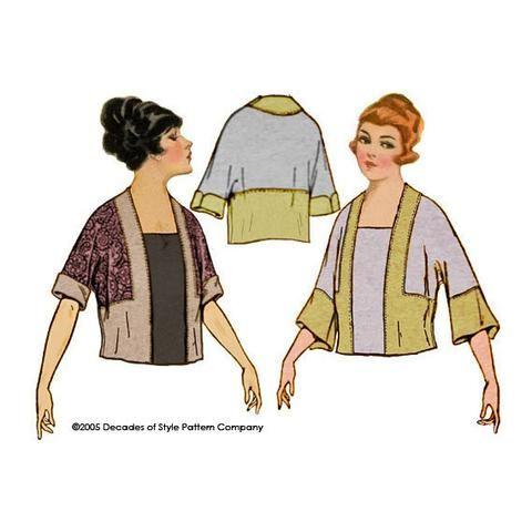 1902 1920 Tunic with Kimono Sleeve   Sewing Patterns - Blouse ...