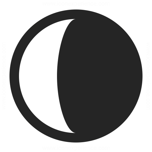 Moon Half Icon Icon Mirror Table Professional Icon