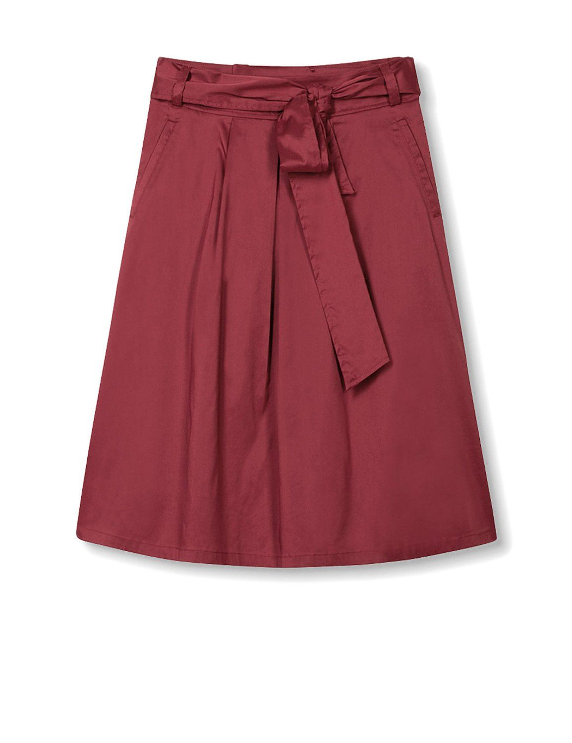 Esprit Women's Women's Red Midi Skirt in Size 42 Red