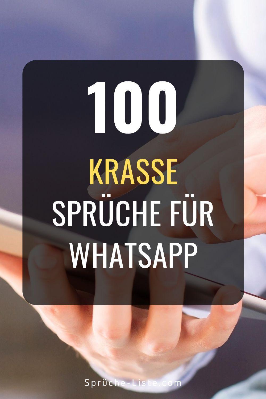 100 Krasse Sprüche für Whatsapp | Krasse sprüche, Whatsapp