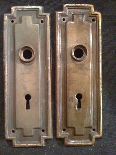 pressed brass door knob plates a¤ cozy a¤ joyful a¤ living