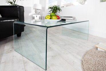 Extravaganter Glas Couchtisch Fantome 110cm Transparent Couchtisch Couchtisch Glas Und Couchtisch Truhe