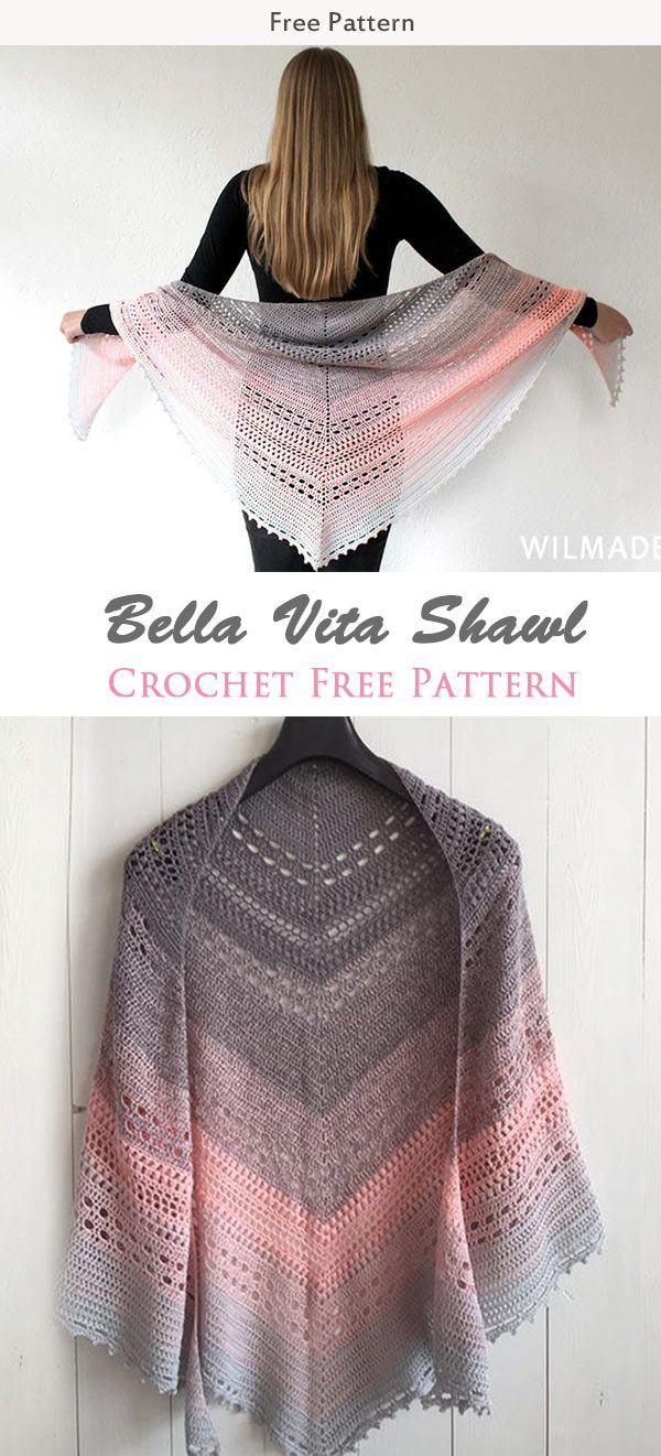 Bella Vita Shawl Crochet Free Pattern   Tejidos   Pinterest   Chal ...