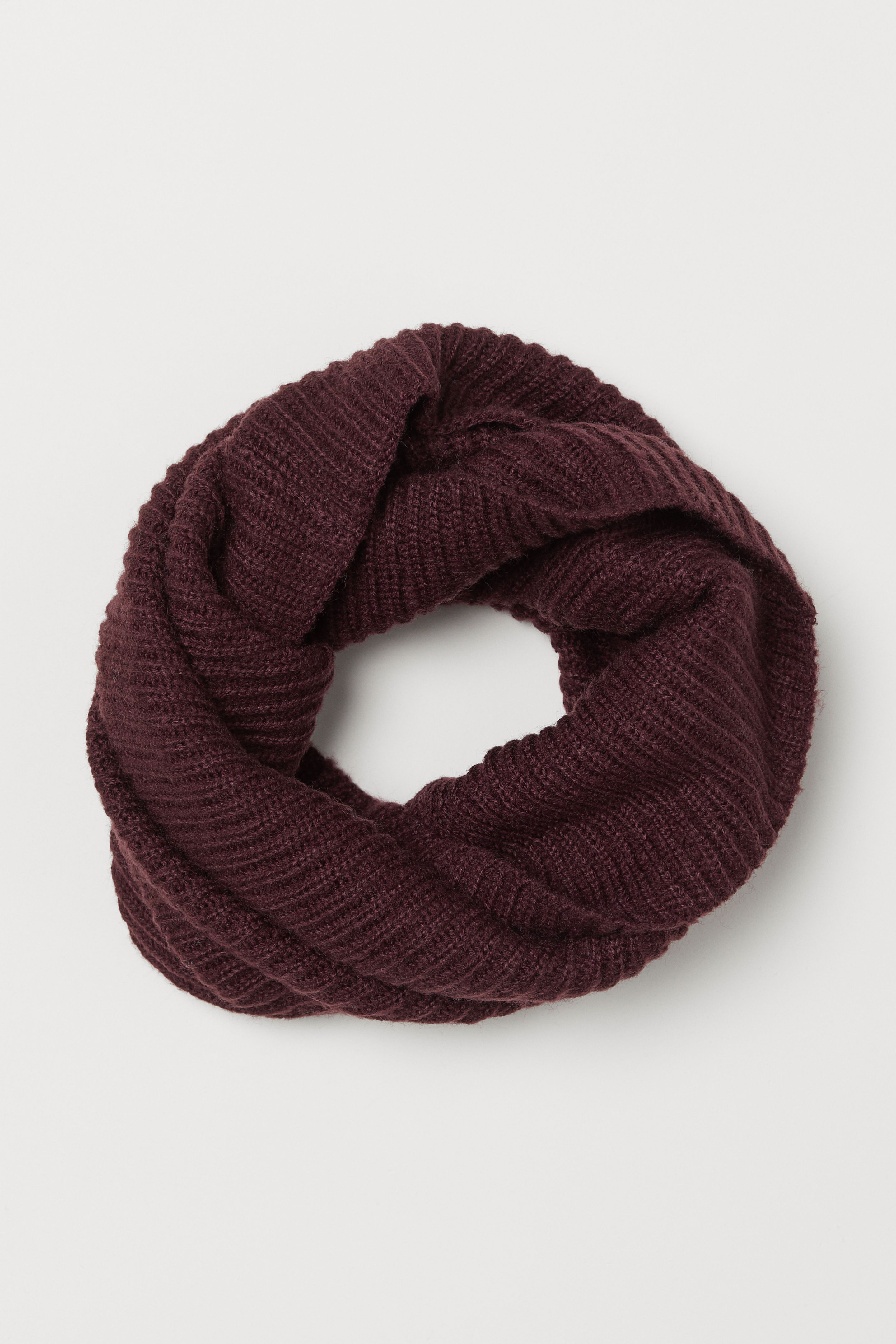 859e5d1fc9a Rib-knit Tube Scarf - Burgundy - Ladies