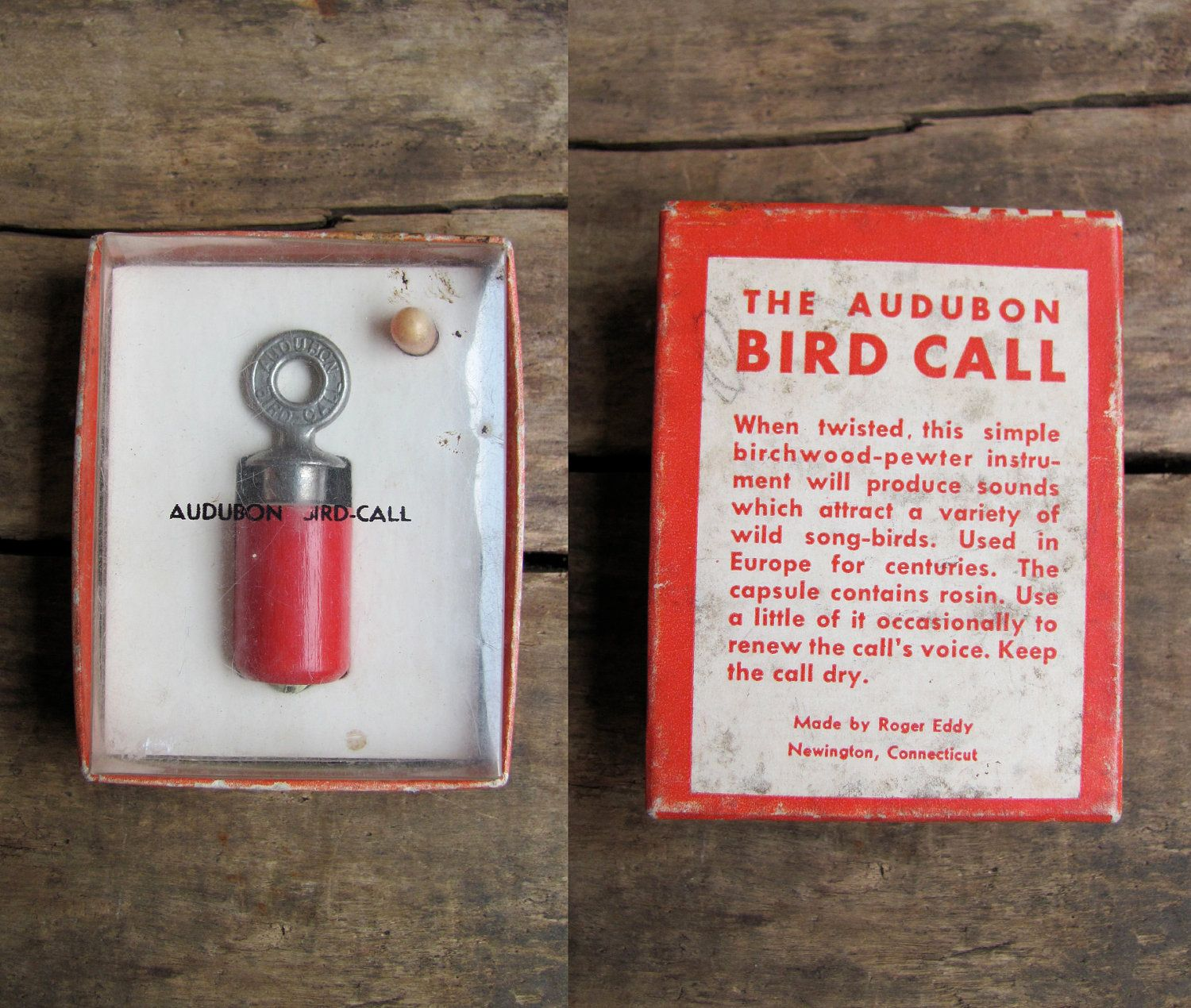 vintage c  1940s-1950s Audubon BIRD CALL in original package