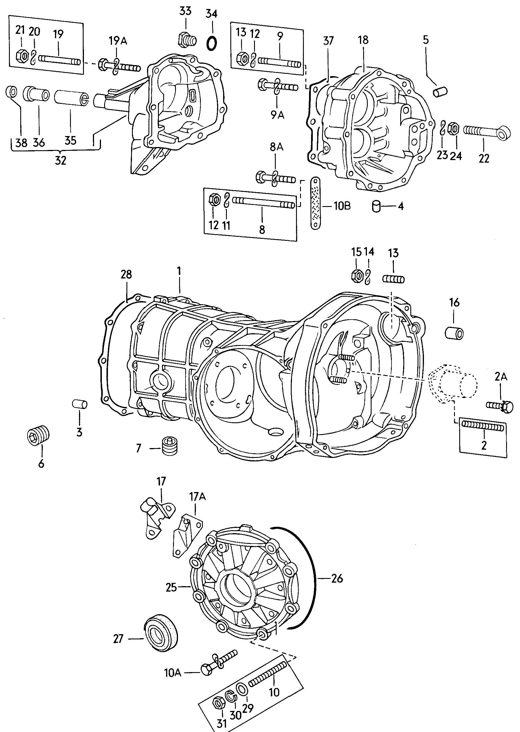 vw beetle transmission schematic