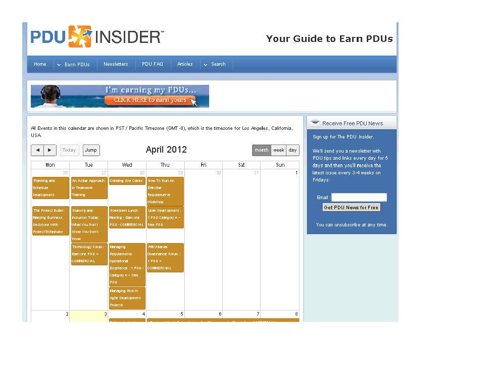 See Calendar Section Of Http Www Pdu Insider Com Index Php Earn Pdus Find Pdu Events In The Calendar Year 201 Blogs Worth Reading Pmp Exam Project Management