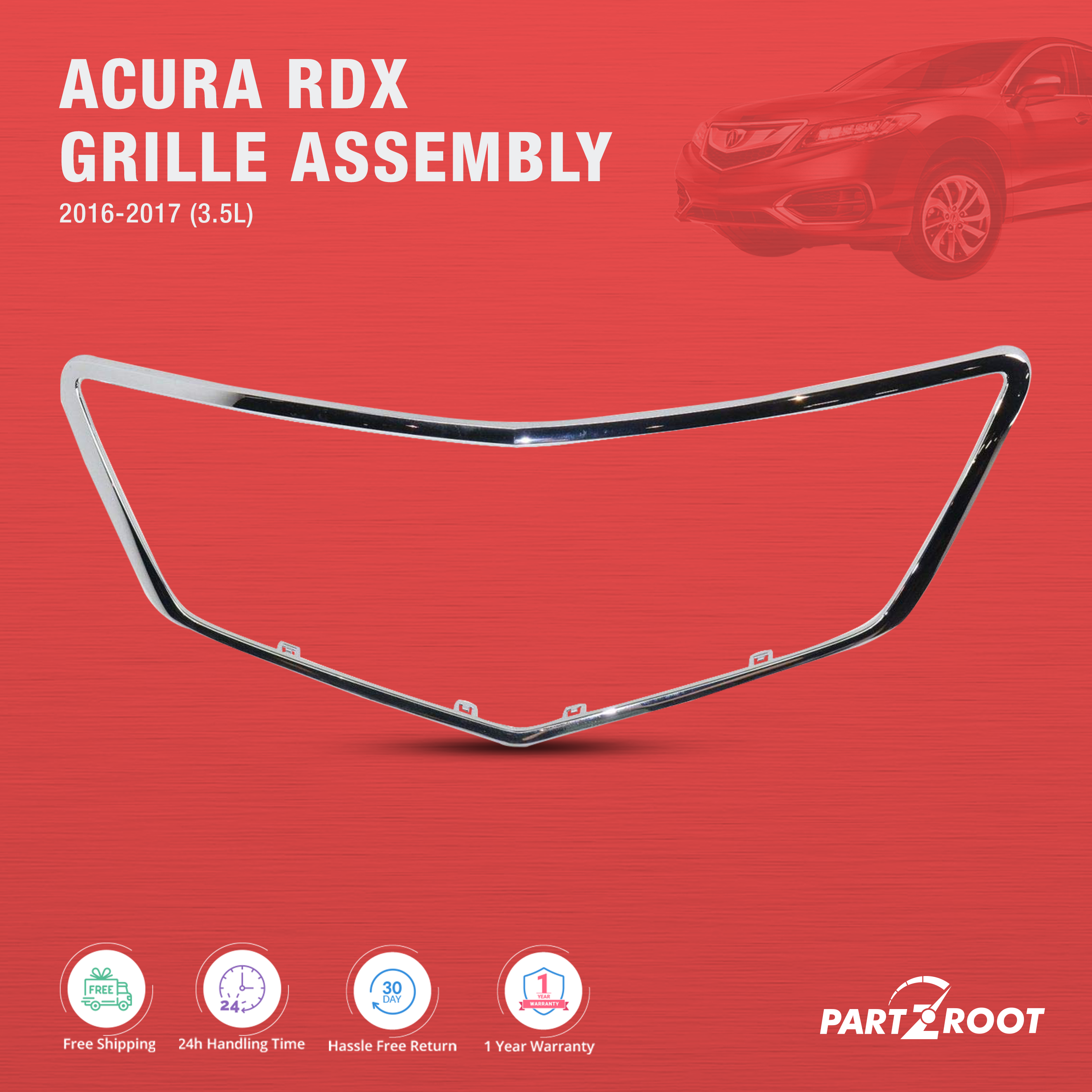 2016-2017 Acura Rdx 3.5L Grille Assembly