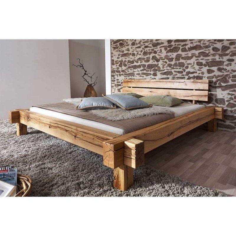 Charmantes Wildeiche Bett mit Balken Rahmen – Satton