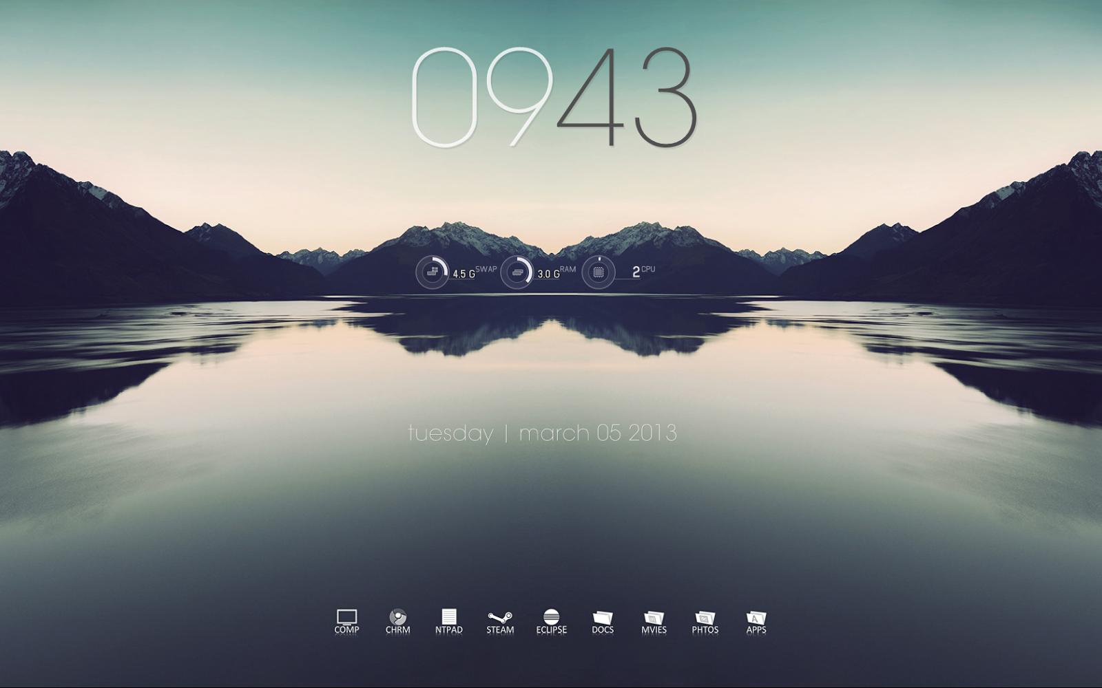 Windows Seven Desktop (rainmeter+rocketdock) | A Random ...