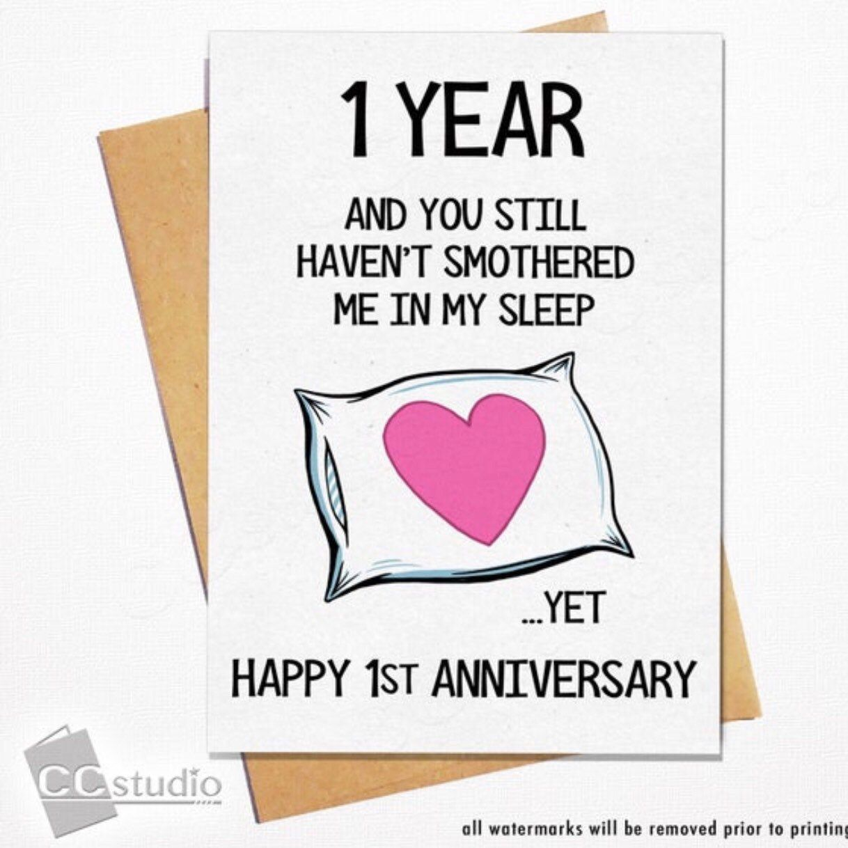 First Anniversary Card 1 Year Anniversary Card Funny Etsy Funny Anniversary Cards Anniversary Funny 20 Year Anniversary Cards