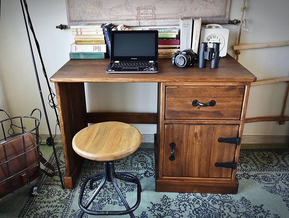 Skrivebord i furu, vokset RUSTIKK 2 MEM Møbler