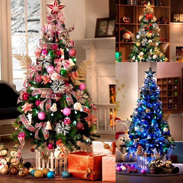 Nice Pink Christmas Tree Decorating Ideas Part - 12: 012 Newest Christamas Tree Ornament Pink 180cm Decorated Set Include Tree  ... Aliexpress.