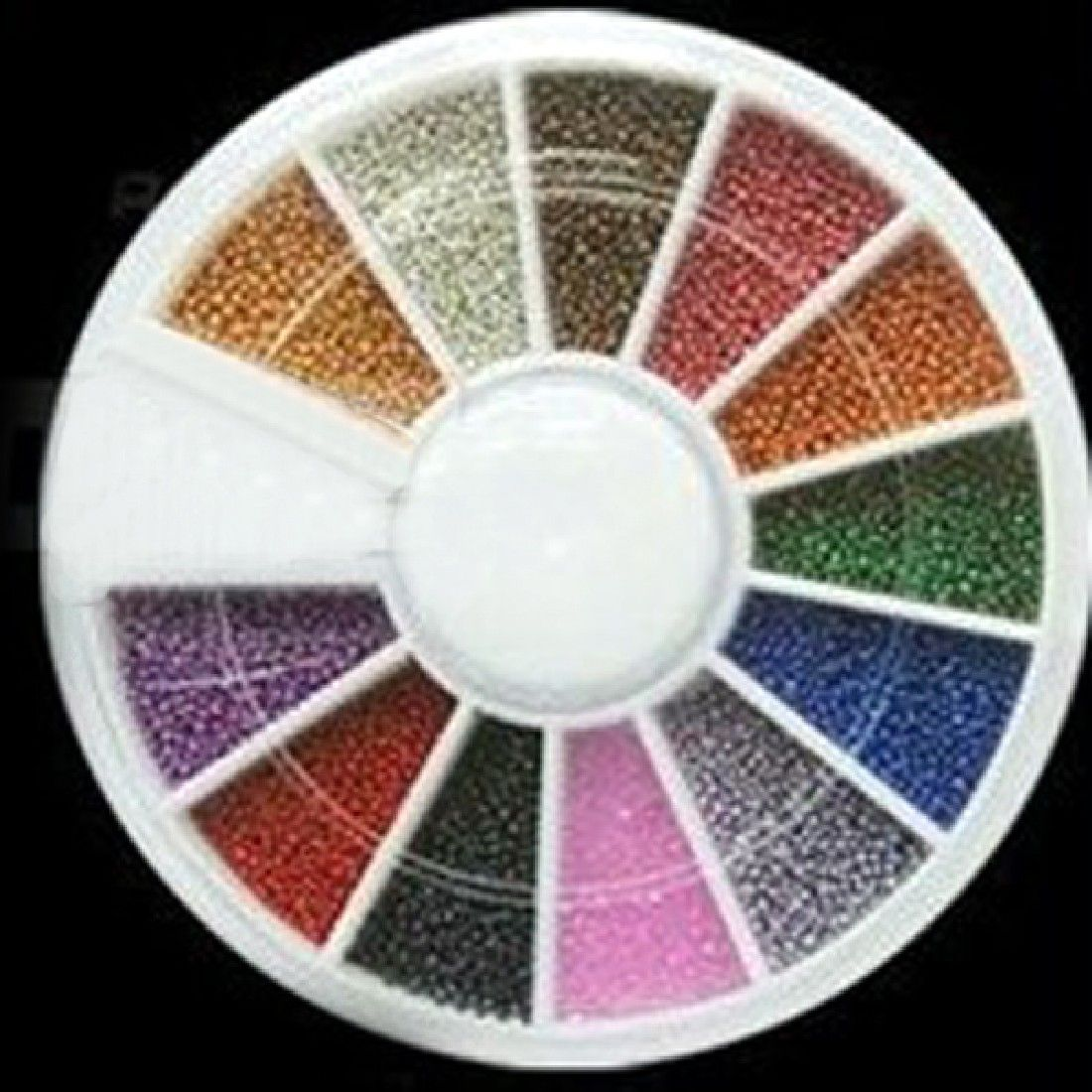2017 fashion hot sale 12 Mix color 1M Nail Art Steel Ball Bead Wheel ...