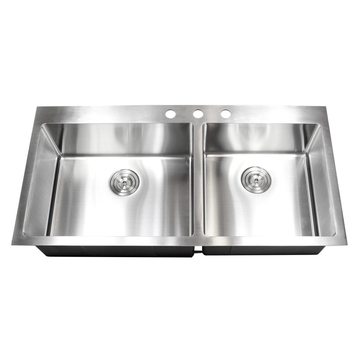 43 Inch Topmount Drop In Stainless Steel Double Bowl Kitchen