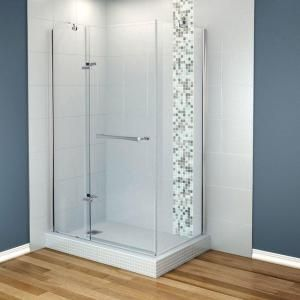 Maax Reveal 48 In X 36 In Corner Shower Enclosure Tempered Glass