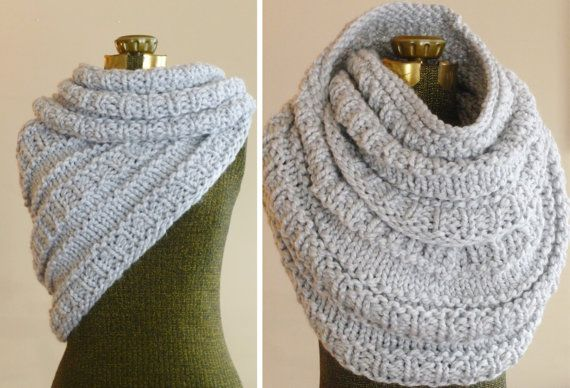 Instant Download Knitting Pattern The Huntress Cowl Knitted Cowl