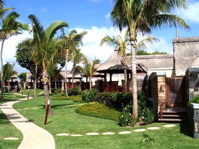 tropical resort landscape