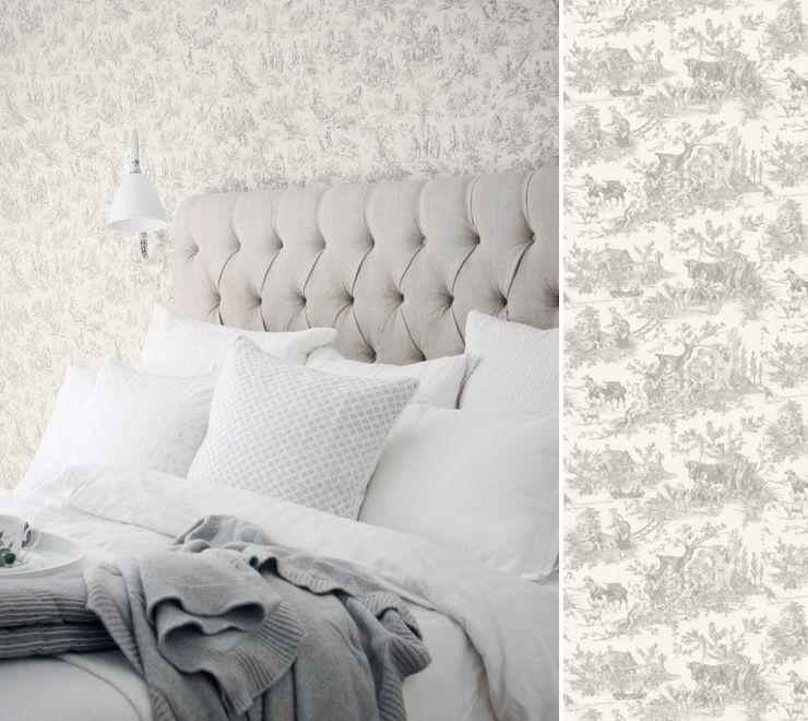 papier peint toile de jouy thibaut toile de jouy en 2018 pinterest. Black Bedroom Furniture Sets. Home Design Ideas