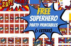 Free Superhero Party Printables Extras birrhday Pinterest
