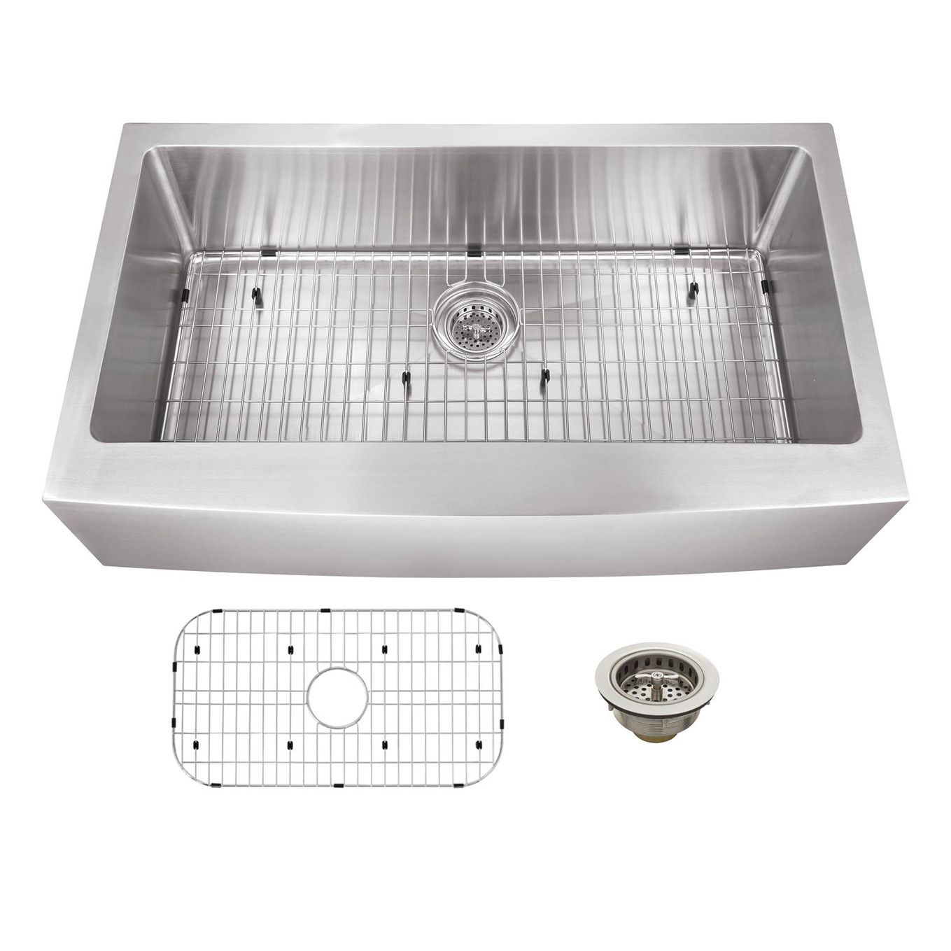 soleil 36   x 20   stainless steel 16 gauge apron front single bowl kitchen sink soleil 36   x 20   stainless steel 16 gauge apron front single bowl      rh   pinterest com