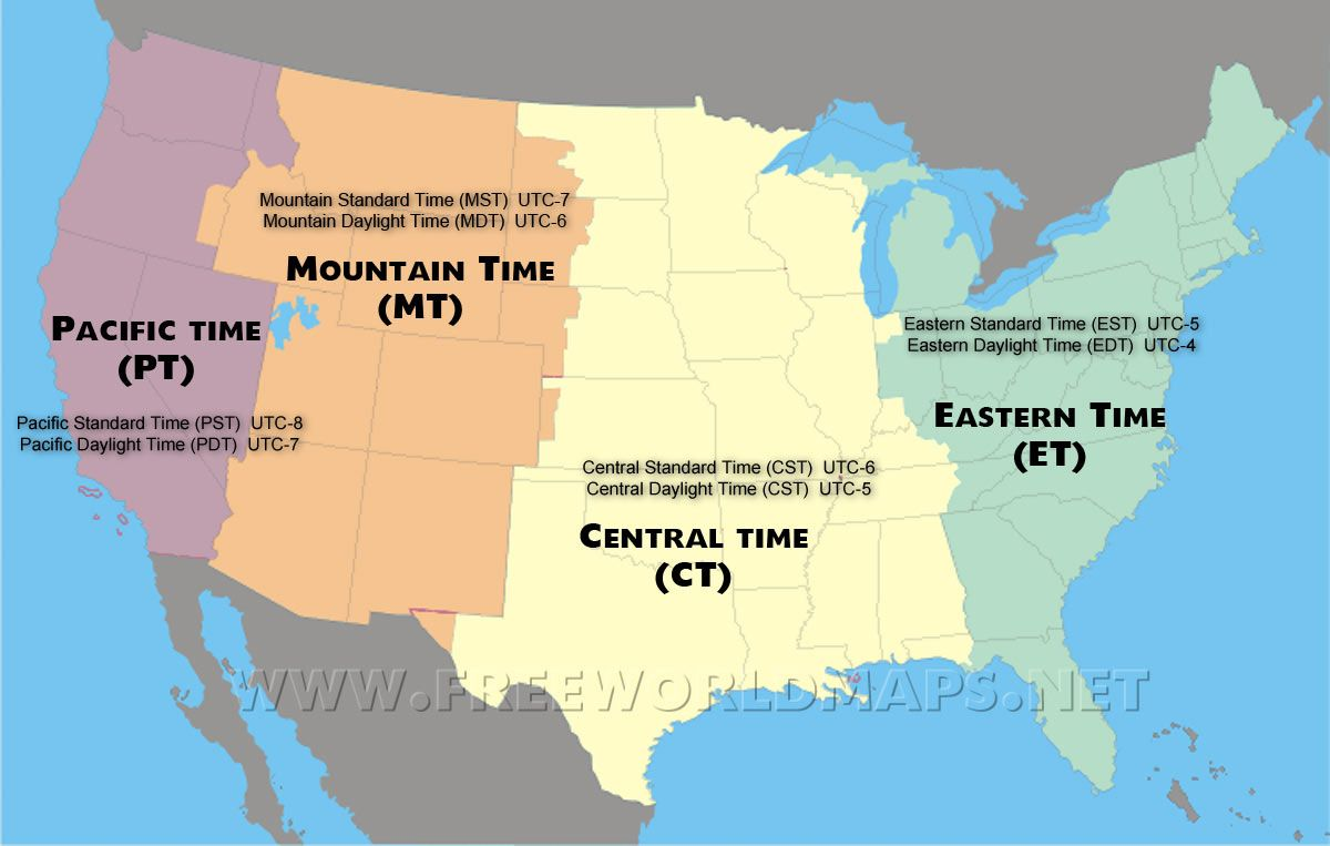 Map Of Central America Time Zones.Us Time Zone Map Maps Time Zone Map Map National Parks Map